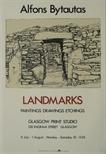 Exhibition Poster - Alfons Bytautas - Landmarks: Paintings, Drawings, Etchings