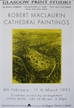 Exhibition Poster - Robert MacLaurin Cathedral Paintings