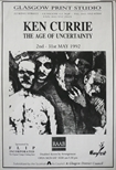 Exhibition Poster - Ken Currie, The Age of Uncertainty
