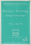 Exhibition Poster - Rainer Fetting, Paintings and Works on Paper