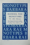Exhibition Poster - Barbara Rae Monotypes