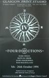 Exhibition Poster - FOUR DIRECTIONS, Mark Dixon, Ruth M. Greer, Janka Malkowska, Rob Mulholland.