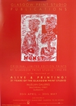 Exhibition Poster - Glasgow Print Studio Publications - Original Limited Edition prints by Glasgow Print Studio 1992-93