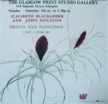 Exhibition Poster - Elizabeth Blackadder and John Houston Prints and Paintings