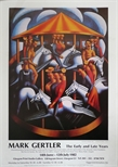 Exhibition Poster - Mark Gertler, The Early and Late Years