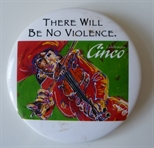 Badge - There Will be No Violence