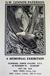 Exhibition Poster - G.W. Lennox Paterson - A Memorial Exhibition