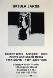 Exhibition Poster - Ursula Jakob Recent Work