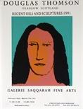 Exhibition Poster - Douglas Thomson Recent Oils and Sculptures 1991