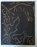 Woodblock for 'Unicorn I'