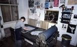 Slide: Workshop at Glasgow Print Studio, Ingram Street