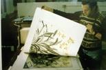 Slide: Creation of Elizabeth Blackadder print