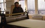 Slide: Large motorised etching press in Glasgow Print Studio workshop