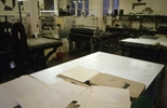 Slide: Lithography stones in the Glasgow Print Sudio workshop