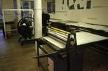 Slide: Etching presses in Glasgow Print Sudio workshop, King Street