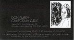 Invite Card: Don Emery California Girls (1984)