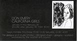 Invite Card: Don Emery California Girls (1984)