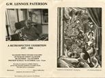 Invite Card: G.W. Lennox Paterson, A Retrospective Exhibition (1984)