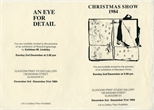 Invite Card: Christmas Show and Kathleen M. Lindsley, An Eye For Detail (1984)