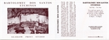 Invite Card: Bartolomeu Dos Santos, Etchings (1986)