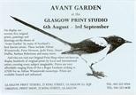 Invite Card: Avant- garden (1988)
