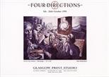 Invite Card: Ruth Greer, Rob Mulholland, Mark Dixon, Janka Malkowska, Four Directions  (1991)