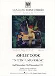 "Invite Card: Ashley Cook, ""Due To Human Error""  (1991)"