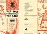 Invite Card: Vier + Four, Glasgow/Berlin, The Book (1990)