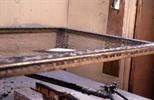 Slide: Plate sitting on aquatint frame