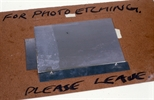 Slide: Plate for photo etching
