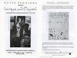 Invite Card: Clive Jennings presents Unique and Original, A Glasgow Print A Studio Retrospective, 1972-1992. (1992)