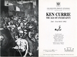Invite Card: Ken Currie, The Age of Uncertainty (1992)