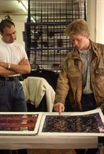 Slide: Two visiting artists in the Glasgow Print Studio workshop