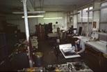Slide: Etching area at the Glasgow Print Studio, Ingram Street