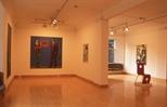Slide: Northern Star exhibition by Adrian Wiszniewski at Glasgow Print Studio, King Street, 2005.
