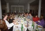 Slide: Hogmanay meal held in the gallery of Glasgow Print Studio, December 1989.