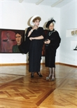 Photograph: Two Women at Douglas Thomson Exhibition (1990)