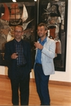 Photograph: Two Men at the 'Touchstones' Exhibition Opening (1990)
