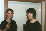 Photograph: Two Women at 'Touchstones' Exhibition Opening (1990)