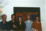 Photograph: Five People at 'Touchstones' Exhibition Opening (1990)