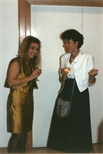 Photograph: Elspeth Lamb at 'Touchstones' Exhibition Opening (1990)