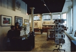 Photograph: Interior of Print Studio Shop with People (1991)