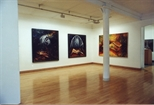 Photograph: Three Paintings from Joseph Urie's Exhibition of New Work (1991)