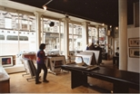 Photograph: Interior of Print Studio Shop with View of King Street (1992)