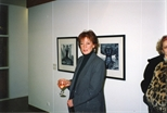 Photograph: Artist June Carey at the Opening of 'Alter-Ego/Self-Portrait' in Reykjavik (1993)