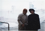 Photograph: Artists June Carey and Ashley Cook in Reykjavik (1993)