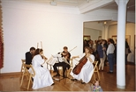 Photograph: Musicians at Opening of 'Breaking the Ice' Exhibition (1992)