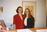 Photograph:Two Women at the Opening of 'Breaking the Ice' Exhibition (1992)