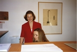 Photograph:Two Unknown Women at the Opening of 'Breaking the Ice' Exhibition (1992)