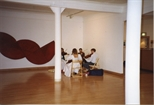 Photograph: String Quartet and Sculpture at the Opening of 'Breaking the Ice' Exhibition (1992)